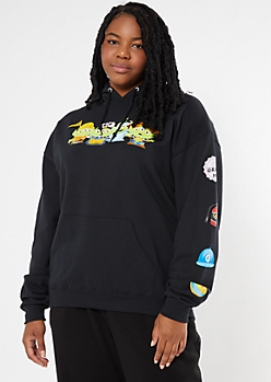Plus Black Toy Story Alien Oversize Hoodie