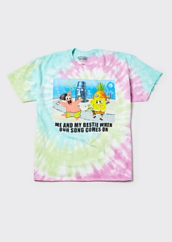 Plus Tie Dye SpongeBob Song Meme Graphic Tee