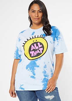 Plus Blue Tie Dye All That Graphic Tee