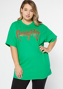 Plus Green Team Naughty Graphic Tee