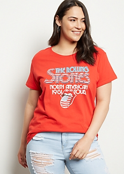 Plus Red Rolling Stones American Tour Graphic Tee
