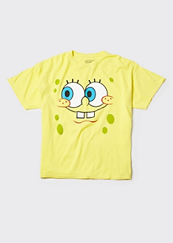 Plus Yellow SpongeBob Smile Graphic Tee