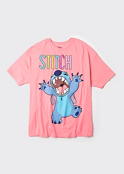 Plus Pink Stitch Growl Graphic Tee