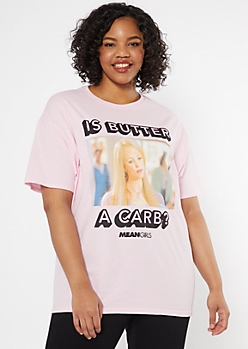 Plus Pink Mean Girls Graphic Tee