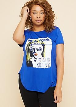 Plus Blue New York Baby Oversized Tee