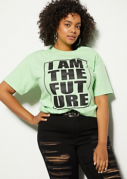 Plus Green I Am The Future Graphic Tee