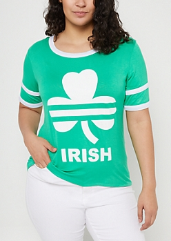 Plus Green Irish Football Tee
