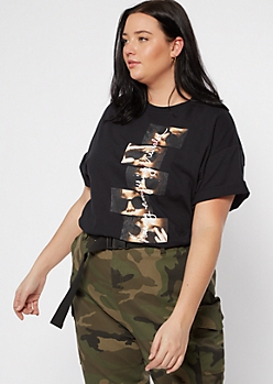 Black Everything Revealed Photostrip Graphic Tee