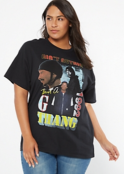 Black G Thang Snoop Dogg Oversized Graphic Tee