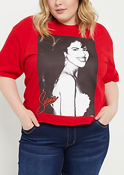 Plus Red Selena Crop Top