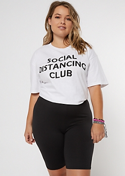 Plus Social Distancing Club Graphic Tee