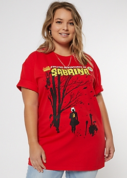 Plus Sabrina Chilling Adventures Graphic Tee