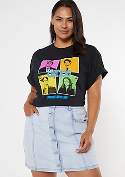 Plus Black Neon The Office Graphic Tee