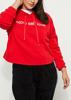 Plus More Self Love Crop Hoodie