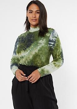 Plus Green Tie Dye Super Soft Bodysuit