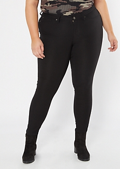 Plus YMI Black Hyper Stretch Skinny Jeans