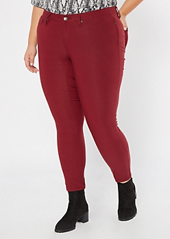 Plus YMI Burgundy Hyperstretch Skinny Jeans