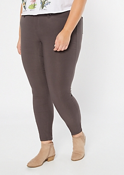 Plus YMI Charcoal Gray Hyperstretch Skinny Jeans