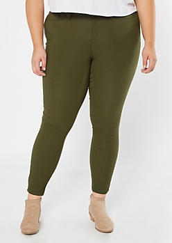 Plus YMI Olive Hyperstretch Skinny Jeans