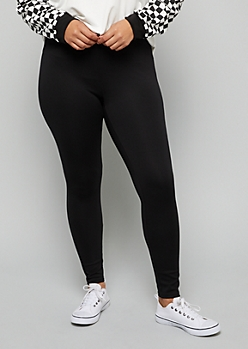 Plus Black Push Up Booty Leggings