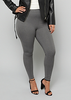 Plus Gray Push Up Booty Leggings