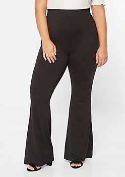 Plus Black Super Soft Flare Yoga Pants