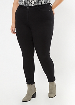 Plus Black High Waisted Curvy Jeans