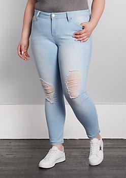 Plus Ripped Better Butt Skinny Jean