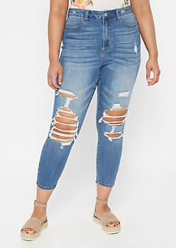 Plus Ultimate Stretch Medium Wash Curvy Skinny Jeans