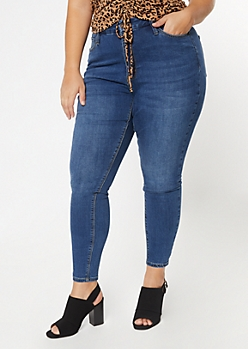 Plus Ultimate Stretch Dark Wash High Waisted Curvy Jeggings