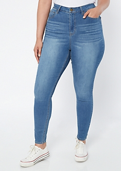Plus Ultra Stretch Medium Wash Jeggings in Short