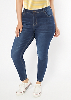 Plus Ultra Stretch Dark Wash High Waisted Jeggings in Regular