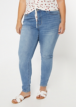Plus Ultimate Stretch Medium Wash High Waisted Jegging