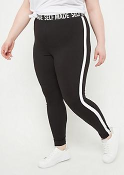 Plus Black Super Soft Self Made Leggings
