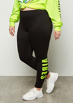 Plus Black Super Soft Vibes Leggings