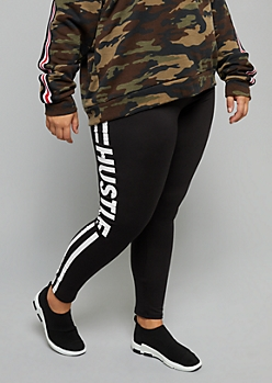 Plus Hustle Black High Waisted Super Soft Leggings