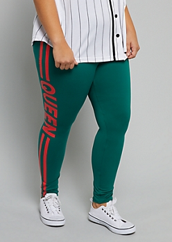 Plus Green Queen High Waisted Super Soft Leggings