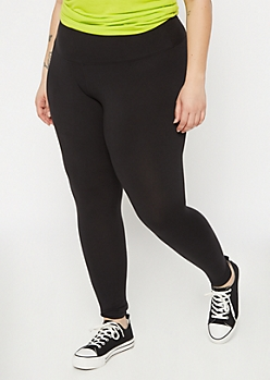 Plus Black Super Soft High Waisted Favorite Leggings