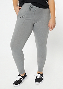 Plus Gray Super Soft Jogger Leggings