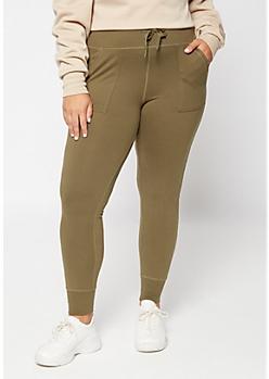 Plus Olive Super Soft Jogger Leggings