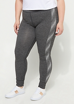 Plus Pixeled Side Leggings