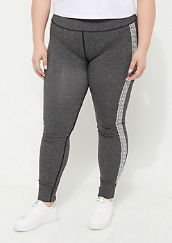 Plus Marled Knit Seamless Leggings