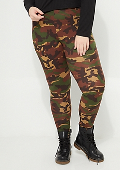 Plus Camo Soft Brushed Leggings