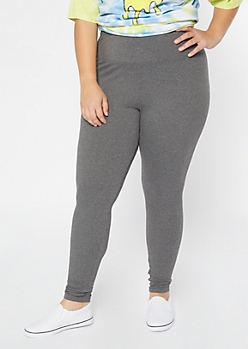 Plus Gray Super Soft High Waisted Favorite Leggings