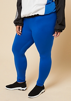 Plus Royal Blue High Waisted Super Soft Leggings
