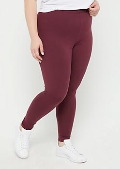 Plus Purple High Waisted Super Soft Leggings