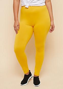 Plus Mustard High Waisted Super Soft Leggings