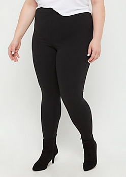 Plus Black High Waisted Leggings