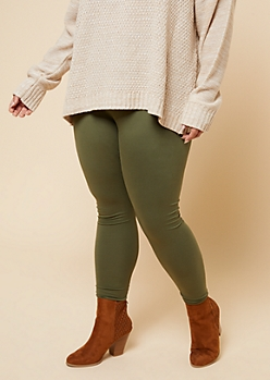 Plus Olive High Waisted Super Soft Leggings