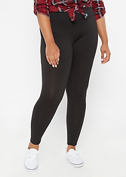 Plus Black Essential Super Soft Leggings